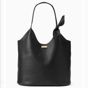 Kate Spade ♠️ 'On Purpose' Black Leather Shopper